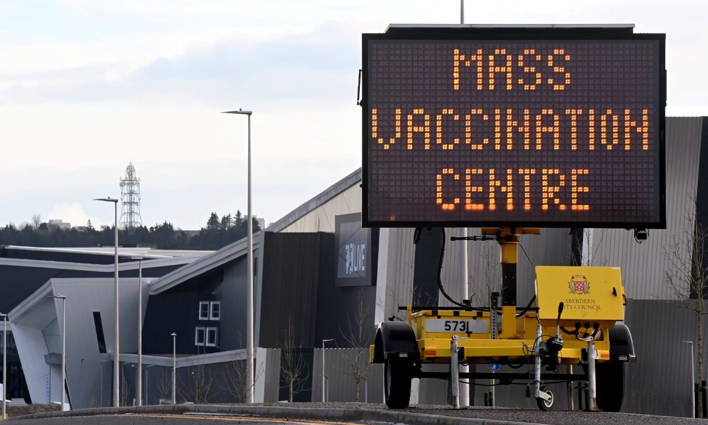 The first patients will be treated at the P&J Live mass vaccination centre in Bucksburn today.