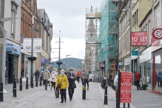 Inverness High Street is in line for a spruce up. Sandy McCook
