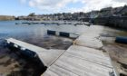 Pontoons at Findochty Harbour.