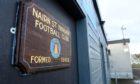 Nairn St Ninian JFC's football ground at Showfield Park, Nairn.
