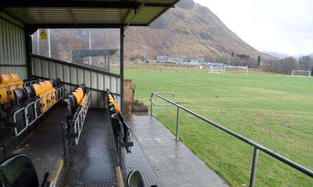 Claggan Park, home of Fort William FC.