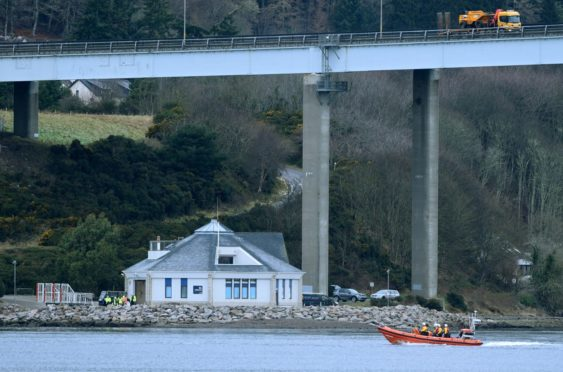 The North Kessock Lifeboat was launched to help in the rescue.
