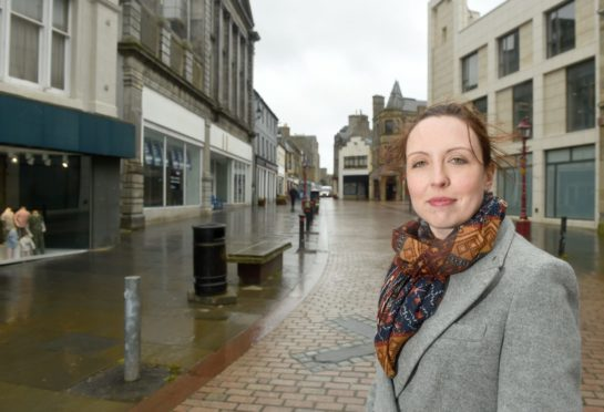 Councillor Nicola Sinclair in Wick where work is to start on Spaces for People