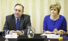 First Minister Alex Salmond and Deputy First Minister Nicola Sturgeon at a meeting of the Scottish Cabinet at Portlethen Parish Church near Aberdeen. PRESS ASSOCIATION Photo. Picture date: Monday February 24, 2014.