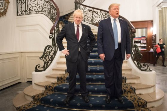 SUPPORT: Boris Johnson's enthusiasm for all things Trump suddenly looks very unwise indeed in the light of recent events in the US.