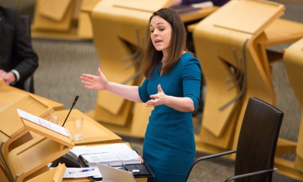 Finance Secretary Kate Forbes as she delivers the Scottish Budget.