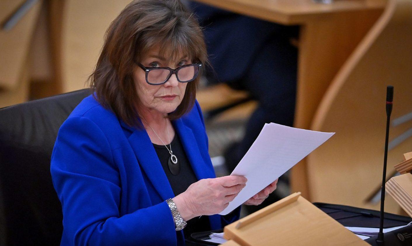 Health Secretary Jeane Freeman addresses MSPs in the Scottish Parliament.