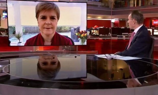 Nicola Sturgeon appearing on the Andrew Marr Show (Supplied by BBC)