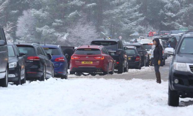 Vehicles at Glenmore.