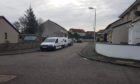 Clashrodney Avenue in Cove, Aberdeen, where a large police presence was seen.
