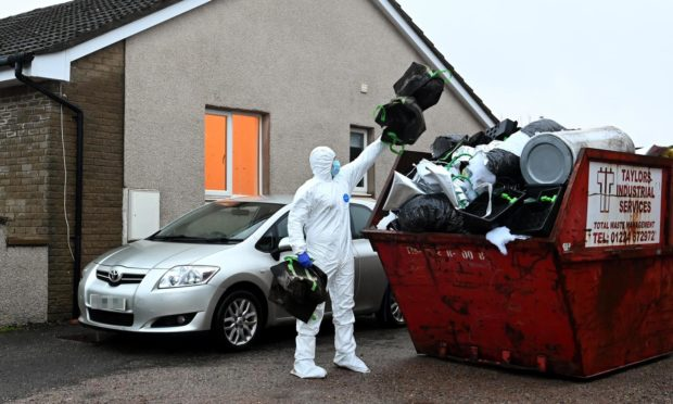 Officers cleared items from a property in Clashrodney Avenue, Aberdeen, after a £145,000 cannabis seizure.
