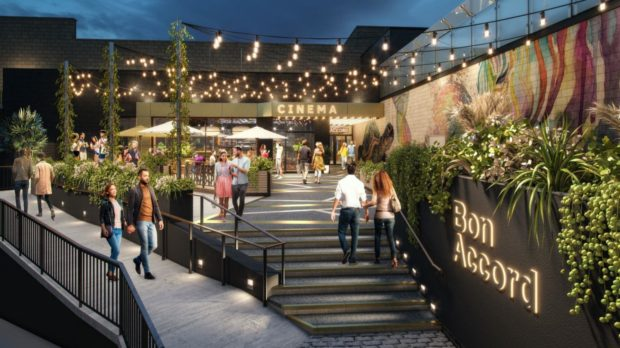 An artist impression of the new cinema planned for The Bon Accord Centre in Aberdeen