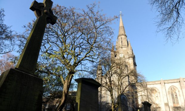 The Kirk of St Nicholas, also known as the Mither Kirk, Union Street, Aberdeen.