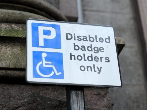 The fibromyalgia patient has asked Aberdeenshire Council for a blue disabled parking badge