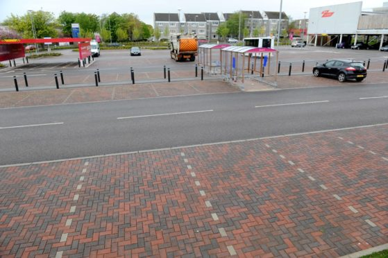 The man died in the car park at Tesco in Rousay Drive, Aberdeen