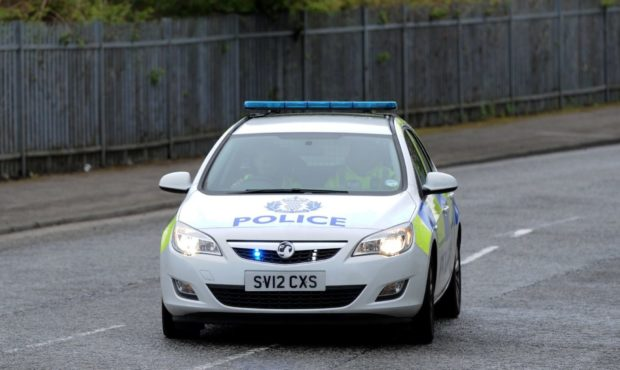 Police have closed a section of the A9.