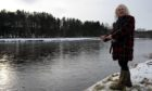 Billy Connolly in 2010, opening the fishing season at Milton of Crathes beside the River Dee.