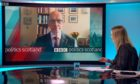 John Swinney appearing on BBC's Politics Scotland programme