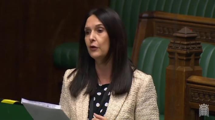 Margaret Ferrier MP speaking in Parliament shortly before testing positive for coronavirus.