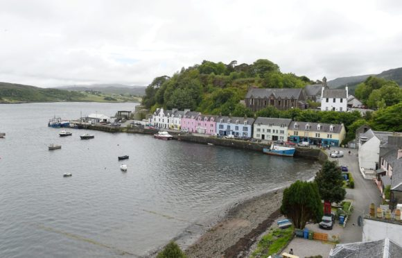 Portree harbour and bay. The island experience proved life-changing for first time author Raymond Moore. Picture by Sandy McCook.