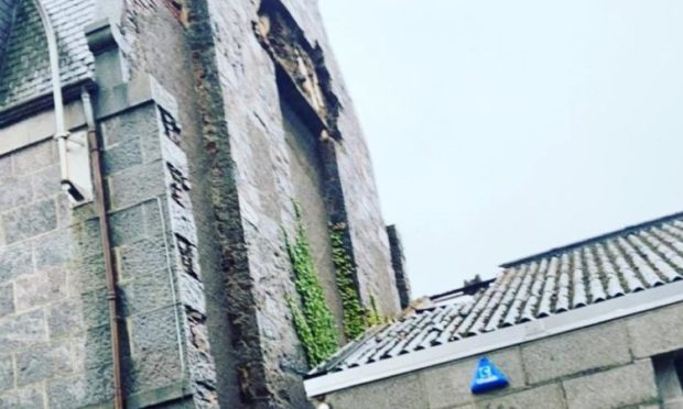 The damage of the neighbouring building.