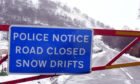 The snow gates closed on the A93 Glenshee road during a previous winter.