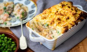 Fish pie came out on top in a recent survey of pie recipes most searched for online.