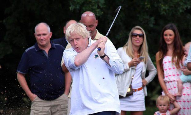 Boris Johnson opening new facilities at Hillingdon Golf Club, Aug 2015