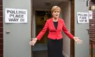 Nicola Sturgeon arrives to cast her vote in the Scottish Parliamentary Election in Glasgow on May 5 2016.