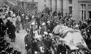 The funeral of Queen Victoria in 1901.