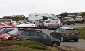 Parking area at the Quiraing on the Isle of Skye (Peter Jolly/Shutterstock)