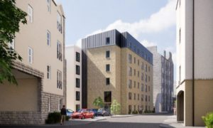 Artistic impressions of the proposed flats in Union Glen, submitted to Aberdeen City Council.
