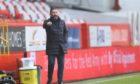 Aberdeen manager Derek McInnes during last week's win against Kilmarnock.