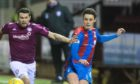 Cameron Harper in action against Arbroath