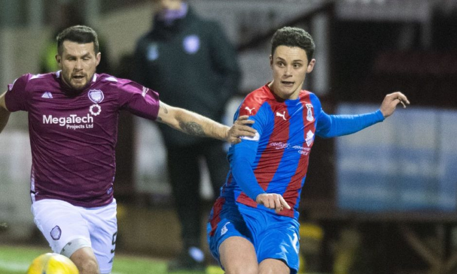 Cameron Harper is competing for Caley Thistle's left back slot.