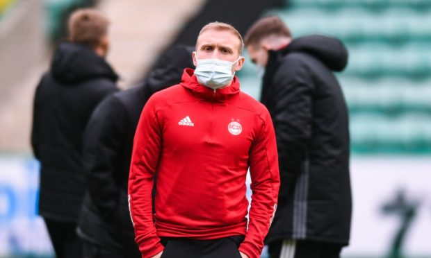 Aberdeen's Dylan McGeouch ahead of kick off against Hibs at Easter Road.