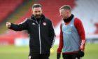Jonny Hayes, right, is back in the Aberdeen side