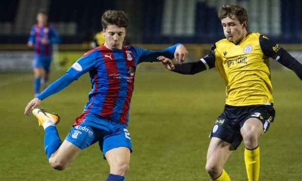 Daniel MacKay in action for Inverness against Queen of the South.