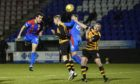 Inverness' Nikolay Todorov misses a chance during the Scottish Championship match against Alloa.