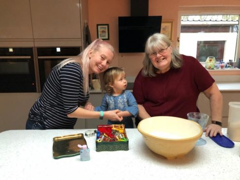 Dr Lesley Diack with her dagher Shonagh and grand-daughter Nieva. Supplied by Bill Diack