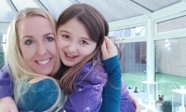 Helen Goss and with her eight-year-old daughter Anna, who has been suffering the effects of long Covid.