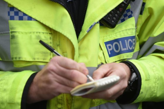 The incident happened on Monday at the Royal British Legion in Dufftown.