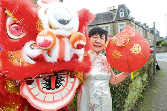Monica Lee-Macpherson , chairperson of the Scottish Highlands and Islands and Moray Chinese Association. Picture by Sandy McCook