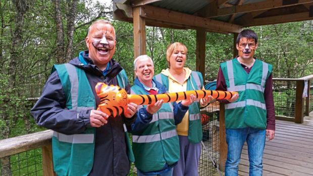 Mark, Gilly, Donna and John at the Highland Wildlife Park.