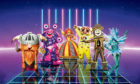 COLOURFUL CHARACTERS: Viking, Blob, Harlequin, Bushbaby, Grandfather Clock and Sea Horse are all contestants appearing on this year's The Masked Singer TV show.