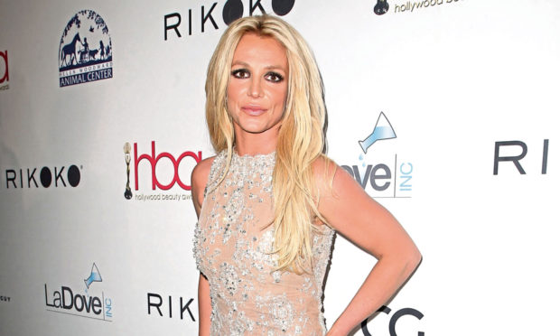 Britney Spears pictured at the Hollywood Beauty Awards in Los Angeles.