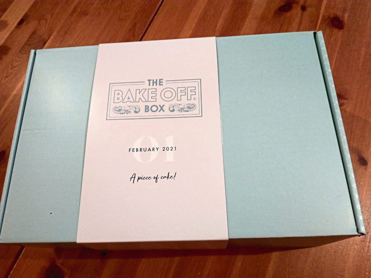 The bake off box from the outside