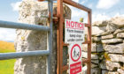 North Yorkshire, UK - Circa August 2019: Detailed view of Warning signs at the entrance to a right of way in the Yorkshire Dales. Dog walkers must keep dogs on leads to prevent scaring the cows.; Shutterstock ID 1478531276; Job: Farming