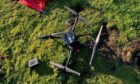 The AAIB report includes this photograph of the drone after it landed in Montrose.