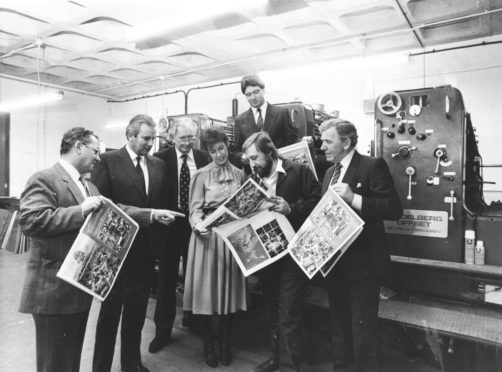 Mr Peter Watson at the launch of the papers Business Journal supplement in 1984.